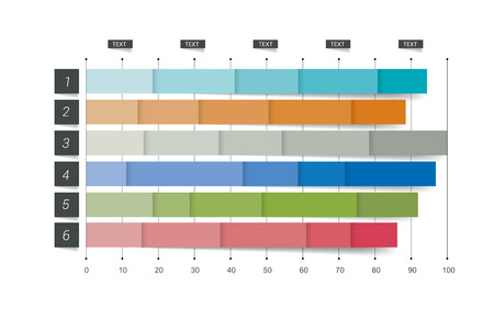 trend: Flat chart, graph. Simply editable color. Infographics elements. Illustration