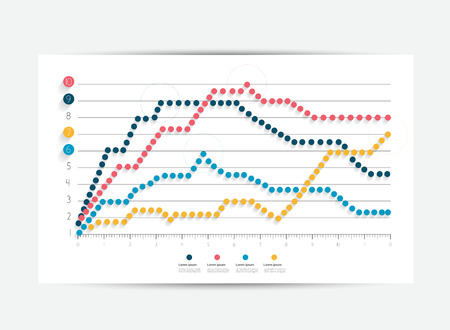 steppe: Flat chart, graph. Simply editable color. Infographics elements. Illustration