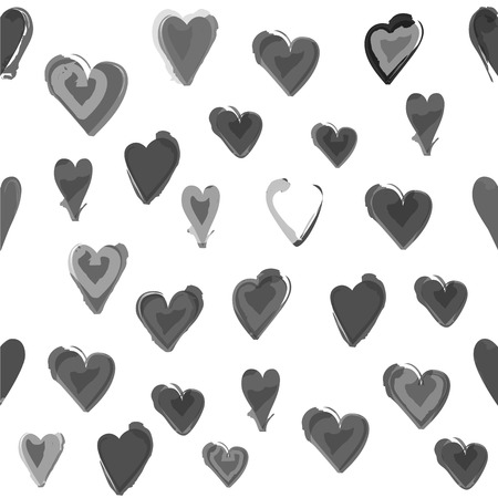wall paper: Water painted heart seamless pattern. Isolated background, wall paper.