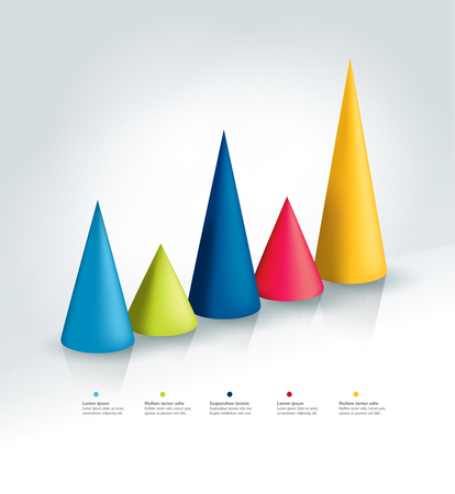 cone: 3D cone chart, graph.