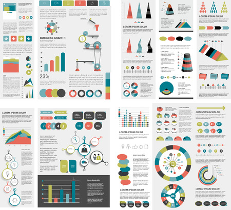 pie chart: Mega set of infographics elements.