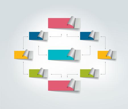 diagrama de flujo: esquema de diagrama de flujo. Vectores