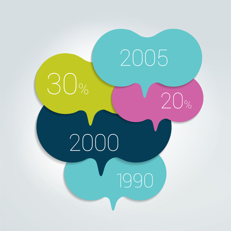 Speech bubble template scheme. Infographic element. Ilustrace
