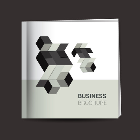 stipe: Brochure cover page. Polygonal gray template. Illustration