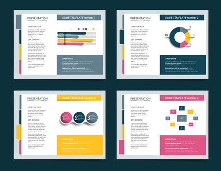 gift background: Slide business templates. Infographics for leaflet, poster, slide, magazine, book, brochure, website, print. Illustration
