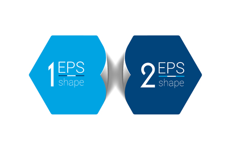 두 비즈니스 요소 배너입니다. 2 단계 디자인, 차트, 인포 그래픽, 스텝 번호 옵션에 의해 단계, 레이아웃입니다. 일러스트