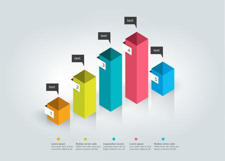 statistic: 3D chart, graph.