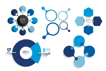 Circle infographic template. Round net diagram, graph, presentation, chart.