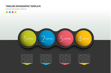 steppe: Graphic template workflow option banner, chart, scheme, diagram. Horizontal line.