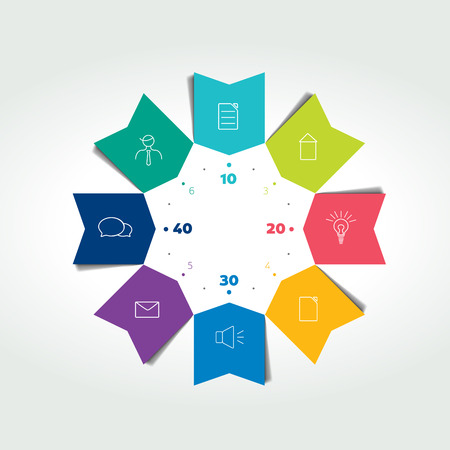 arrows vector: 3D business circle color arrows infographic. Chart can be used for presentation, number options, workflow layout, timeline, diagram, scheme. Vector.