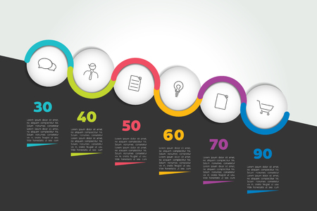 Timeline speech bubble concept. Infographic.