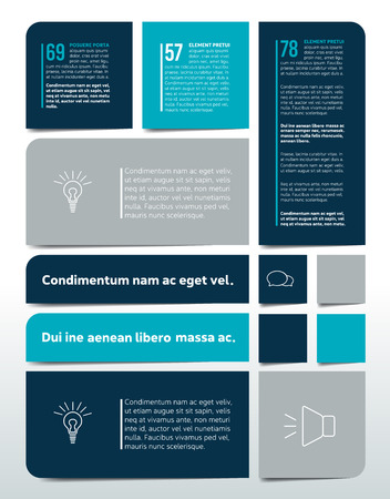 tab: Big Table, chart, schedule, text banner, tab template. Infographics elements. Illustration