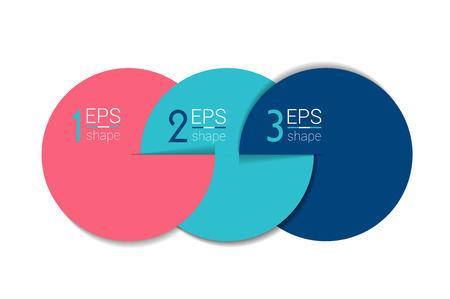 business chart: Three business elements banner, template. 3 steps design, chart, infographic, step by step number option, layout. 3D cyrcle style.