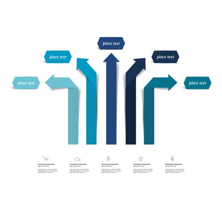 visualisation: Arrow infographics scheme, diagram, chart, flowchart. Vector.