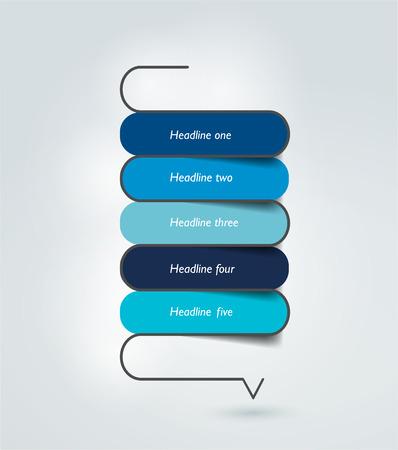 structure: Snake speech bubble template. Infographics elements. Illustration