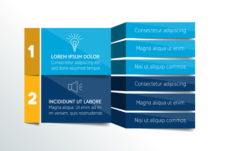 in a row: Table, schedule design template with 3 row. Vector banner.