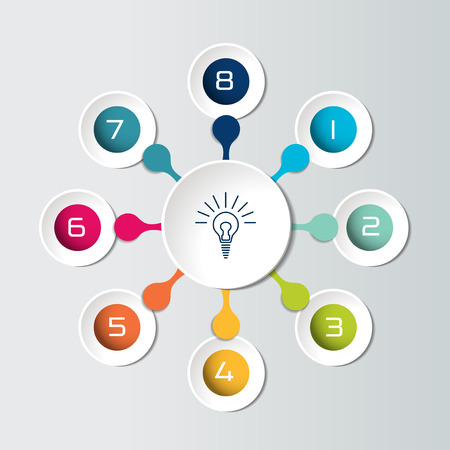 Round infographic 8 steps net flow chart diagram graph chart round infographic 8 steps net flow chart diagram graph chart flowchart ccuart Gallery