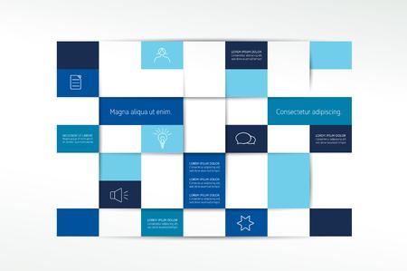 schedule: Flat minimalistic table, tab, schedule. Illustration