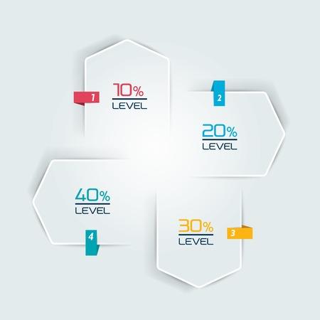 Infographic 4 stappen sjabloon, flow chart. Diagram, grafiek, grafiek, flowchart, banner sjabloon. Vector.