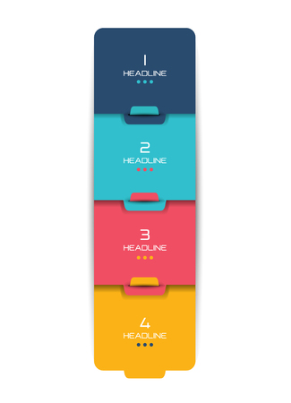 minimalist: Option step by step schedule, tab, banner. Minimalistic vector design infographic.