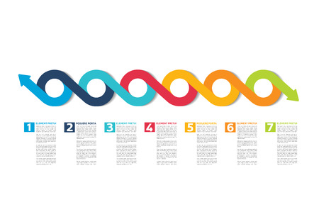chronological: Infographic timeline report, template, chart, scheme. Vector. Illustration