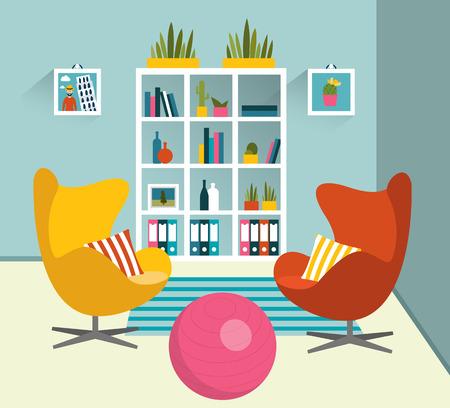 desig: Interior desig. Flat design vector illustration. Illustration