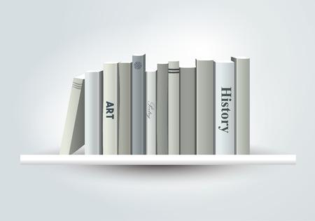 indoor: Book shelf. Vector illustration. Bookstore indoor.