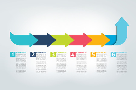reports: Infographic timeline report, template, chart, scheme. Vector. Illustration