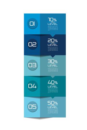 tab: Infographics Elements. Square tab, flowchart, box diagram.