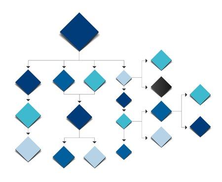 diagrama de flujo grande. Sombras de color esquema.