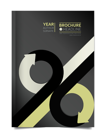 cover: Brochure cover. Annual report cover. Flyer cover. Leaflet cover. Presentation cover. Cover text template layout. Vector.