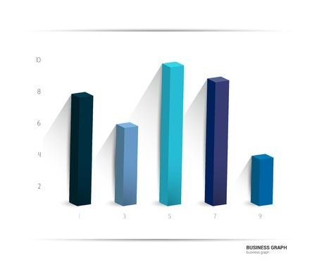 grafica de barras: gráfico de 3D, gráfico. Simplemente el color editable. Infografía elementos.