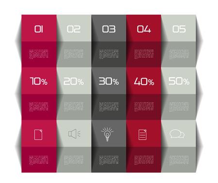 presentation card: Table, schedule template. 3D business design.