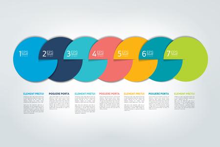Infographic timeline report, template, chart, scheme. Vector. Illustration