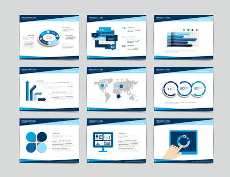 ui design: 9 presentation business templates. Infographics for leaflet, poster, slide, magazine, book, brochure, website, print.