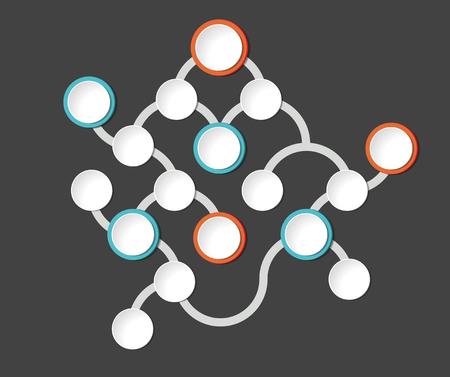 Flowchart. Template, scheme, diagram, infographic. Illustration