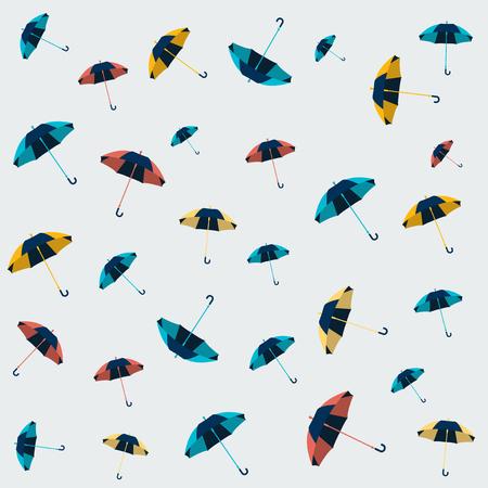 Umbrella seamless pattern design, wallpaper, textile design, background.
