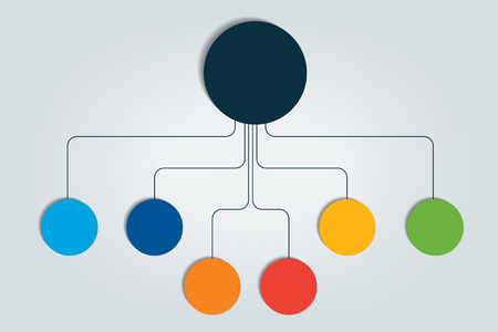 Flowchart infographic vector illustration Illustration