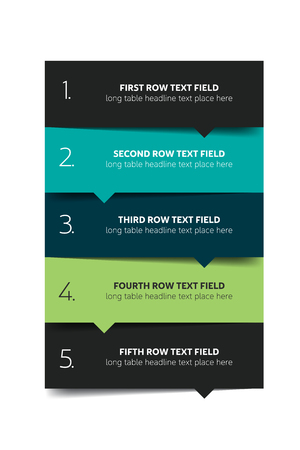 Option template, table, schedule, banner. Step by step infographic. Illustration