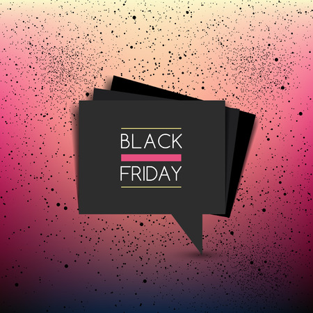 Black friday vector. Sale layout background for template, banner, cover, print, flyer.