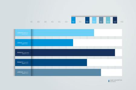 Tabla plana, gráfico, esquema. Simplemente color editable. Elemento de infografía. Vector.