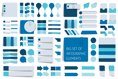 Infographics elements. Big set of stickers, arrows, pointers.