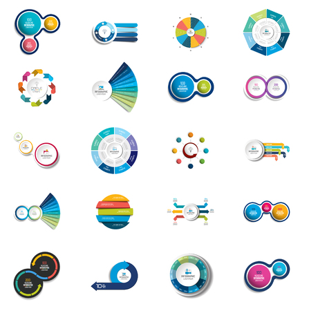Mega set of  circle, round  infographic templates, diagrams, graph, presentations, chart. Business concept.