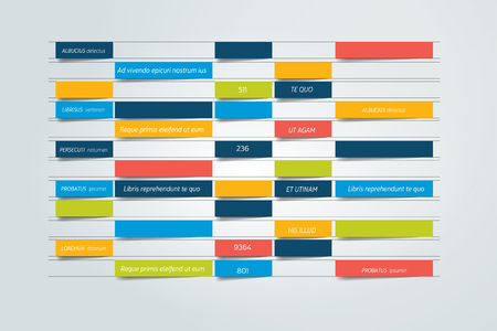 Chart, schedule design template. Vector banner. Illustration