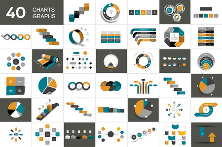 Big set of chart, graph, scheme, infographic.