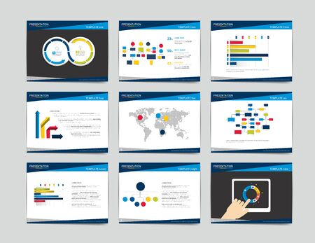 9 presentation business templates. Infographics for leaflet, poster, slide, magazine, book, brochure, website, print.