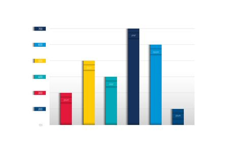 Cuadro, gráfico, esquema. Simplemente color editable. Elemento de infografía. Vector.