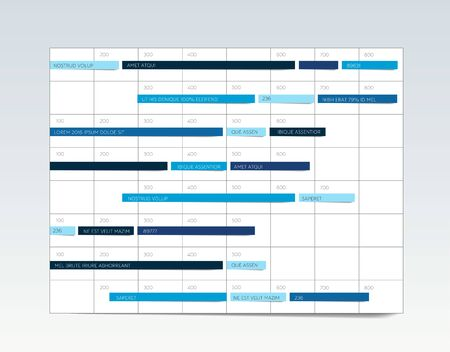 Table, schedule, tab, planner, infographic design template. Vector. Stok Fotoğraf