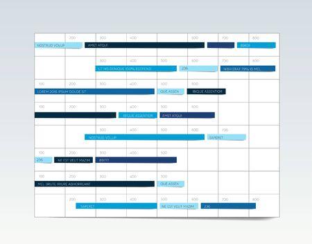 Table, schedule, tab, planner, infographic design template. Vector. 写真素材