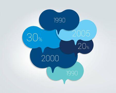 Speech bubble diagram, scheme. Infographic element.